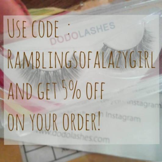 Dodo lashes coupon code